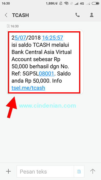 Cara Isi Saldo TCASH Melalui BCA Virtual Account