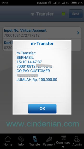 Cara Top Up Go Pay Melalui mBCA