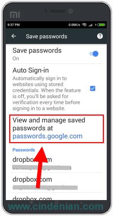Cara Melihat Password Yang Tersimpan di Chrome Android