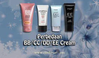 Perbedaan BB Cream, CC Cream, DD Cream, dan EE Cream