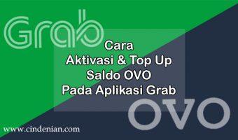 Cara Aktivasi dan Top Up Saldo OVO pada Aplikasi Grab