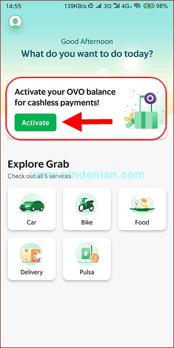 Cara Aktivasi OVO pada Aplikasi Grab