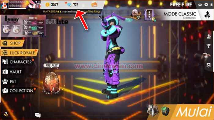 Cara Top Up Diamond Free Fire dari aplikasi DANA