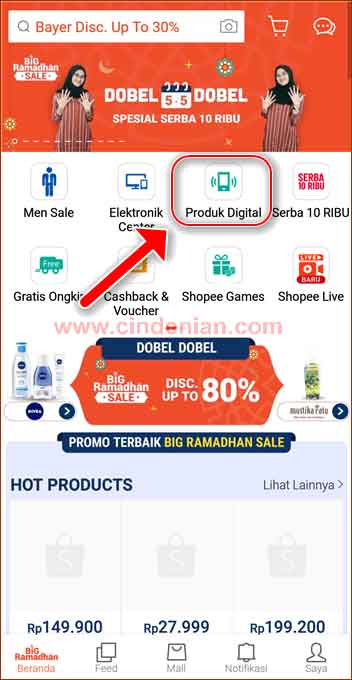 Cara Top Up Diamond Free Fire Melalui Aplikasi Shopee