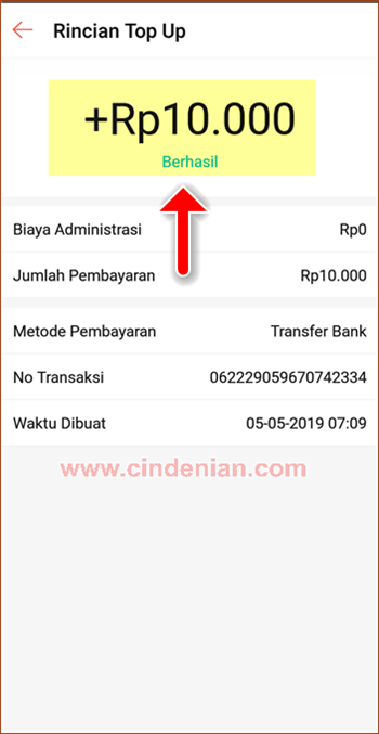 Cara Top Up Saldo ShopeePay Melalui Transfer Bank