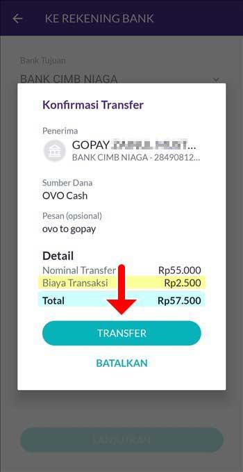 Cara Baru Transfer Saldo OVO ke GoPay