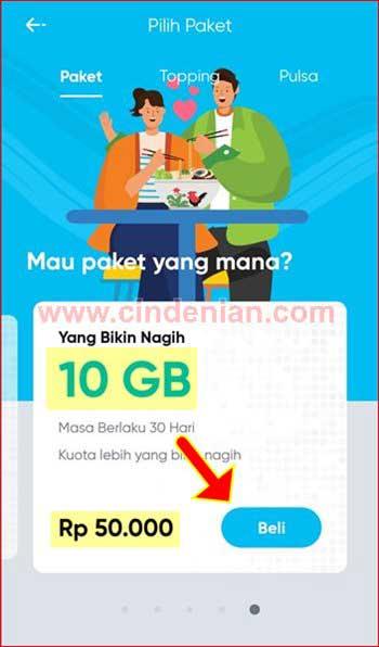 Cara Beli Paket Internet by U Bayar Pakai OVO